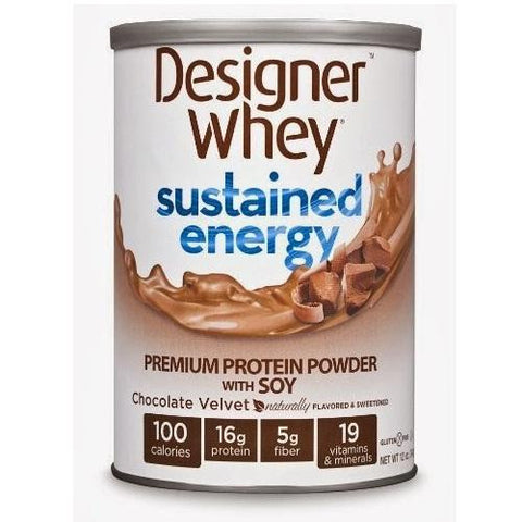 Designer Whey Chocolate Velvet, With Soy (1x12 Oz)