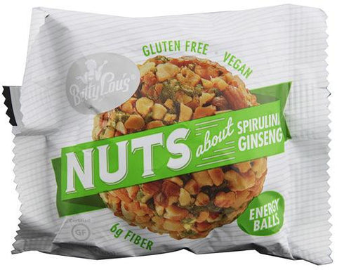 Betty Lou's Nut Butter Balls Spirulina Ginseng (1.4 Ozx30 Ct)