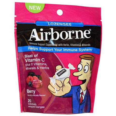 Airborne Lozenges With Vitamin C Berry (1x20 Count)
