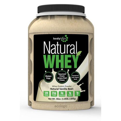 Bodylogix Protein Powder Natural Whey Vanilla Bean (1x1.85lb)