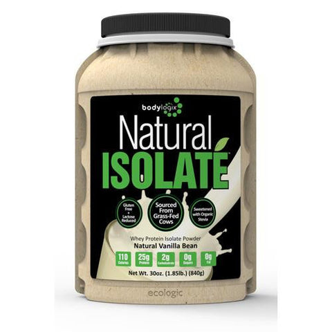 Bodylogix Isolate Powder Natural Whey Vanilla Bean (1x1.85lb)