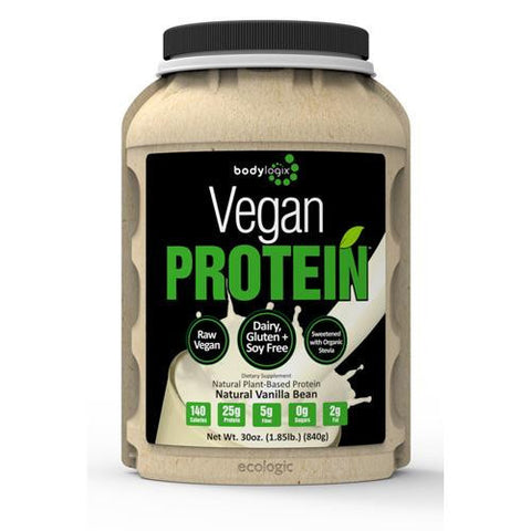 Bodylogix Protein Powder Vegan Plant Based Vanilla Bean (1x1.85lb)