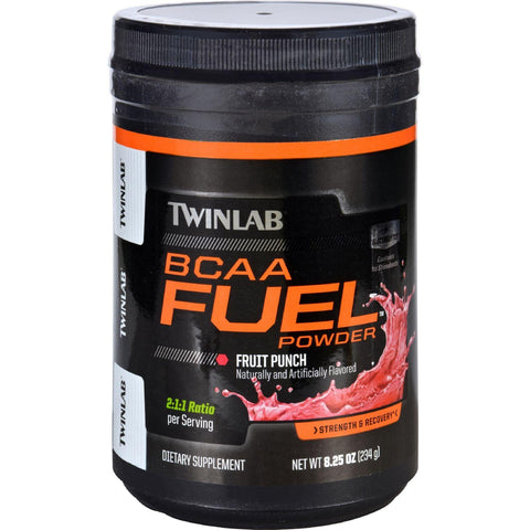 Twinlab Bcaa Fuel  Fruit Punch  Powder  8.25 Oz