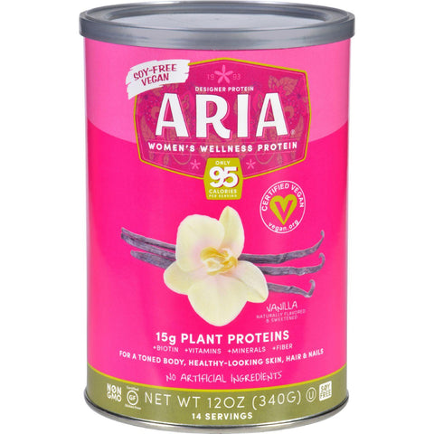 Designer Whey Aria Womens Wellness Protein Powder  Vanilla  12 Oz