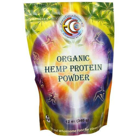 Earth Circle Organics Hemp Protein Powder  Organic  12 Oz