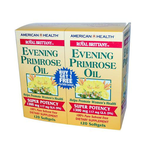 American Health Royal Brittany Evening Primrose Oil Twin Pack 1300 Mg (2x120 Softgels)