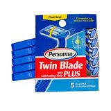 Personna Disposable Razors With Lubricating Strip Twin Blade Plus (1x5 Count)