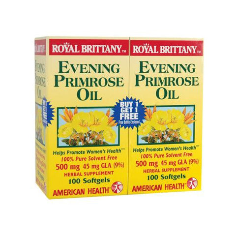 American Health Royal Brittany Evening Primrose Oil 100+(100 Softgels)