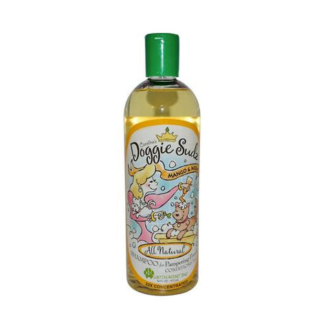 Austin Rose Caroline's Doggie Sudz Shampoo For Pampering Pooch Mango And Neem 16 Oz