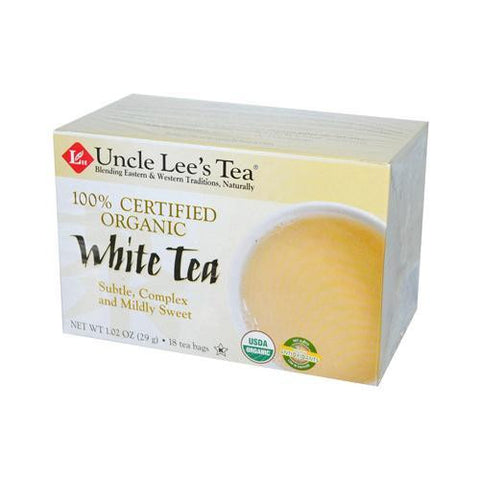 Uncle Lee's Tea 100% Certified Organic White Tea (6 X18 Bag)