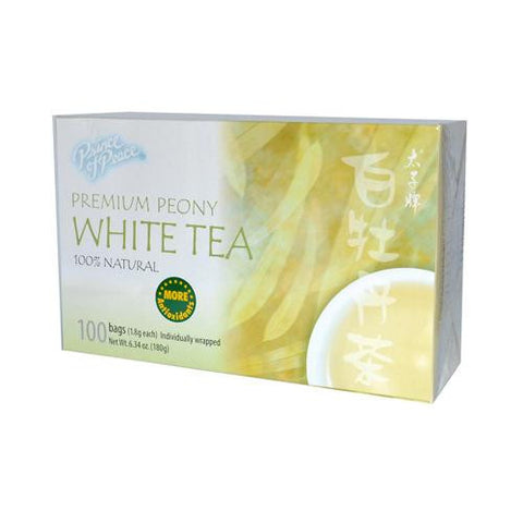 Prince Of Peace Natural Premium Peony White Tea (1x100 Tea Bags)