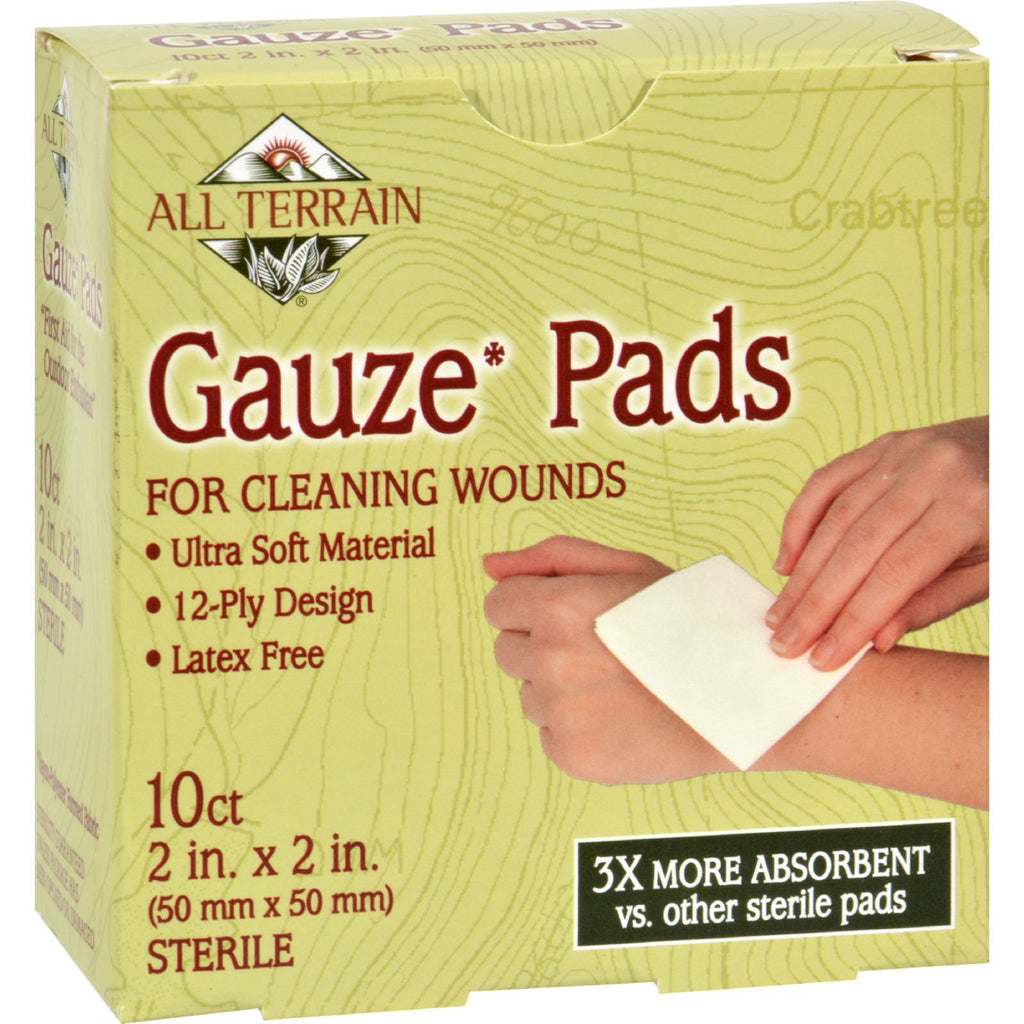 All Terrain Gauze Pads Latex Free - 10 Pads - Rhea Manor Natural Market