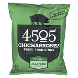 4505 Pork Rinds - Chicharones - Jalapeno Cheddar - Case Of 24 - 1 Oz
