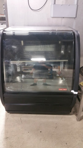 use torey 40 inch refrigerated display case (curved glass) - Food Service Supply