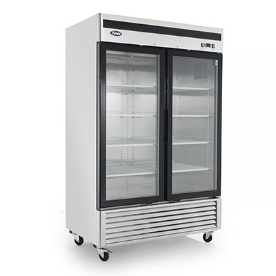 Atosa, 2 Door Freezer Merchandiser S/S - Food Service Supply