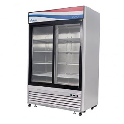 Atosa, 2 Sliding Door Refrigerator Merchandiser S/S - Food Service Supply
