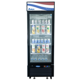 Atosa, 1 Door Refrigerator Merchandiser 19.39 cu. ft. Black - Food Service Supply