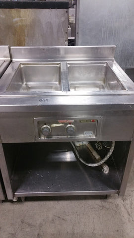 wells two hole steam table - Food Service Supply