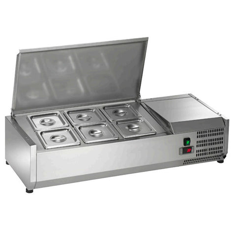 Arctic Air Countertop Refrigerated Rail Sandwich prep Unit ACP40 - Food Service Supply