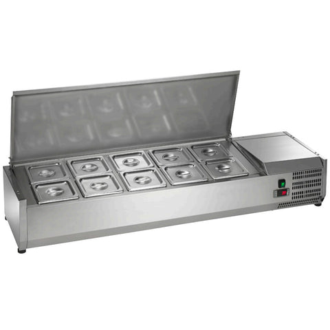 Arctic Air Countertop Refrigerated Rail Sandwich Prep Unit ACP55 - Food Service Supply