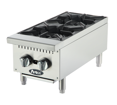 "Atosa ATHP12-2, 2 Burner Hot Plate 12"" - Food Service Supply"