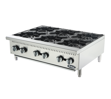 "Atosa ATHP-36-6 6 Burner Hot Plate 36"" - Food Service Supply"
