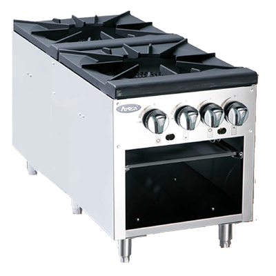 Atosa Double Burner Stock Pot Range ATSP-18-2 - Food Service Supply