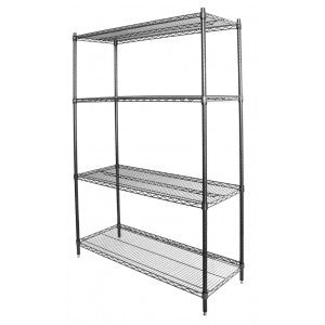 "Wire Shelving Chrome or Green Epoxy 14x30"" (Per Shelf Posts Sold Separate) - Food Service Supply"