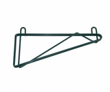 "Wire Shelving Wall Bracket Single 14"" Chrome or Green Epoxy - Food Service Supply"