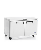"New Atosa 60"" Undercounter 2 Door Refrigerator MGF8403GR - Food Service Supply"