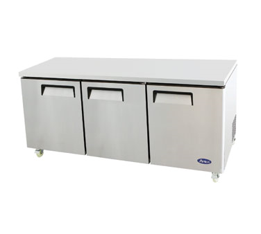 "New Atosa 72"" Undercounter Refrigerator 3 Doors MGF8404 - Food Service Supply"
