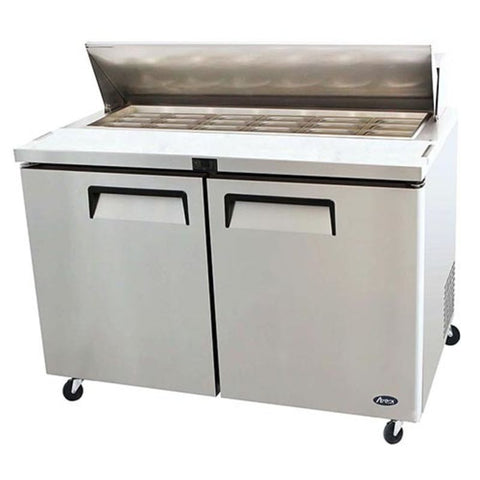 "Atosa MSF8303 60"" Regular Top Refrigerated Sandwich Prep Table - Food Service Supply"