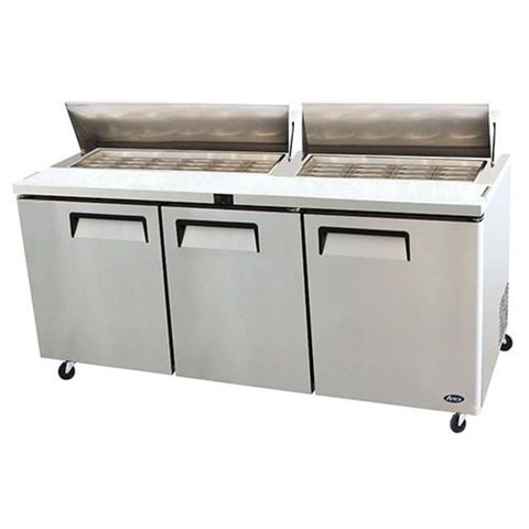 "Atosa MSF8308 72"" Mega top refrigerated prep table - Food Service Supply"