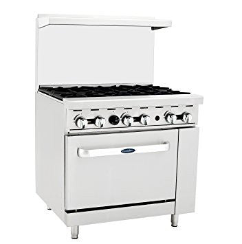 "Atosa 6 Burner Range 36"" - Food Service Supply"