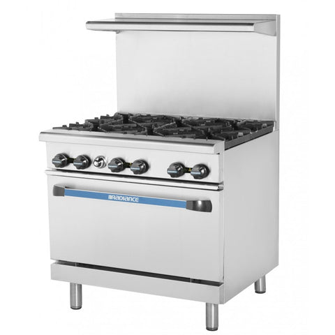 Radiance 6 Burner Range With Oven TAR-6 - Food Service Supply