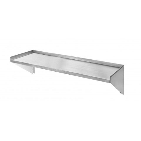 "Wall Shelf Stainless Steel 12x48"" Klingers Trading WS1248 - Food Service Supply"