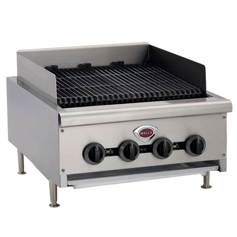 "Wells HDCB2430 24"" Charbroiled Gas Countertop Radiant - Food Service Supply"