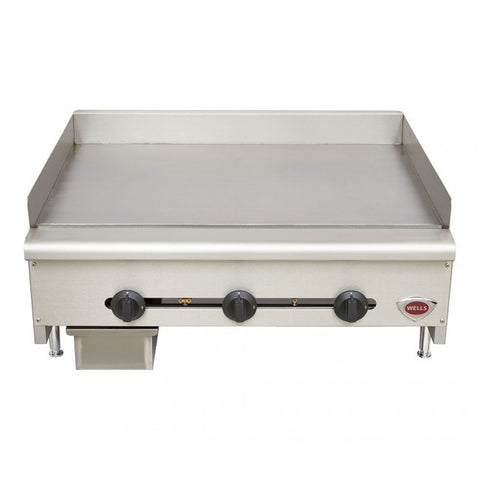 "Wells HDG2430 24"" Griddle Gas Countertop Natural Gas or Liquid Propane - Food Service Supply"