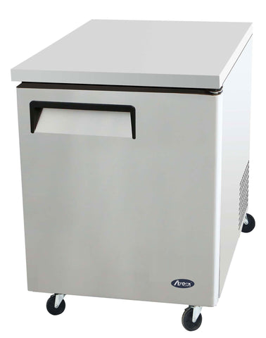 "New Atosa 27"" Single Door Under Counter Refrigerator MGF8401 - Food Service Supply"