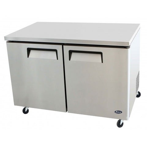 "New Atosa 48"", 2 Door Undercounter Refrigerator MGF8402GR - Food Service Supply"