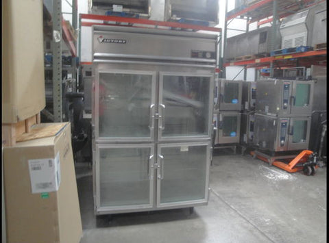 victory double door glass door fridge - Food Service Supply