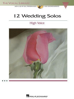 12 Wedding Songs High Voice Vocal Lib Bk/Cd