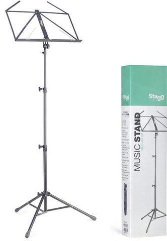 3 Section Heavy Duty Music Stand - Black