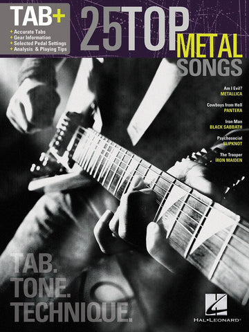 25 Top Metal Songs Tab Tone