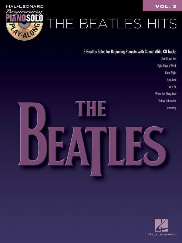Beatles Hits Beg Piano Play Along Bk/Cd V2