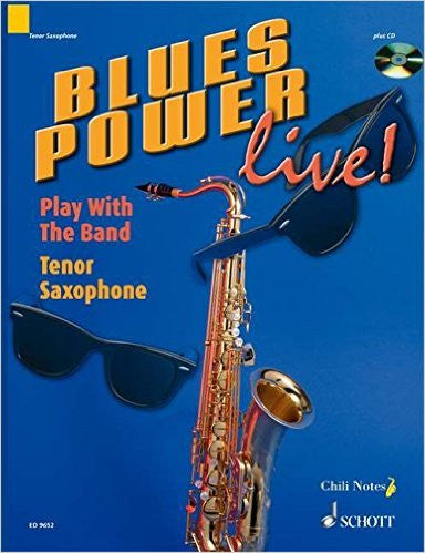 Blues Power Play With The Band Ten Sax Bk/Cd