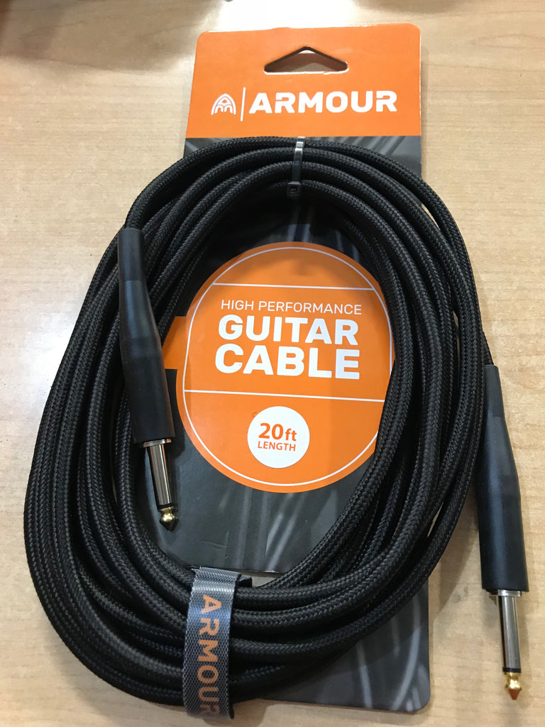 020 Ft Guitar Cable Woven Black