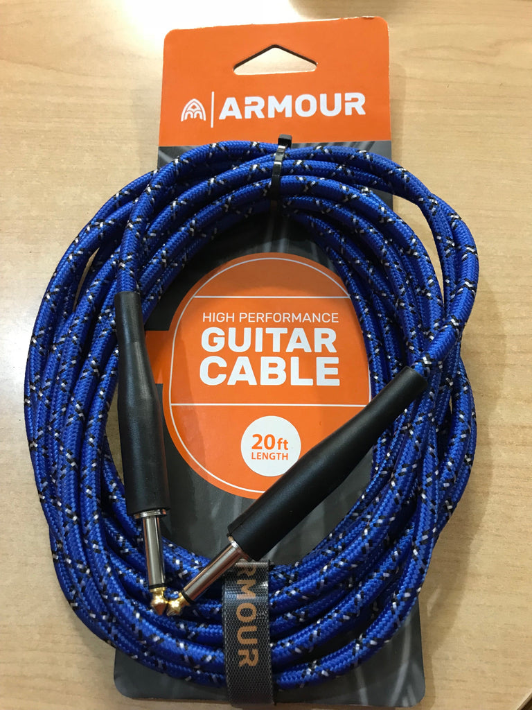 020 FT Guitar Cable Woven Python Blue