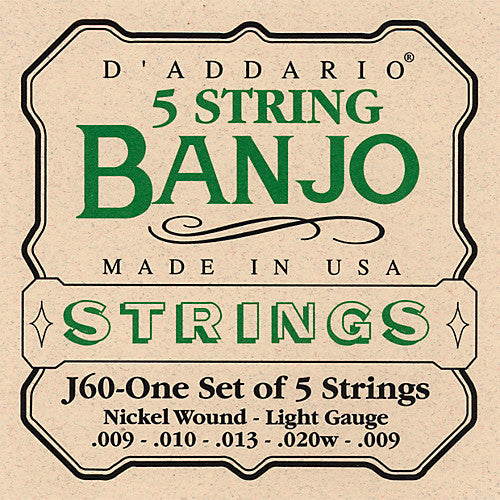 Banjo Str Set 09/20 N/W Lgt