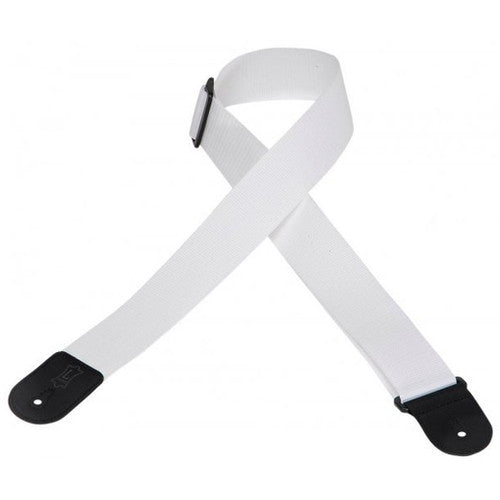 02 Inch Gtr Strap Cott/Poly White - Shearer's Music Work
